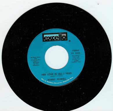 BOBBY POWELL: HER LOVE IS ALL I NEED / CRAZY LOVE. 1973