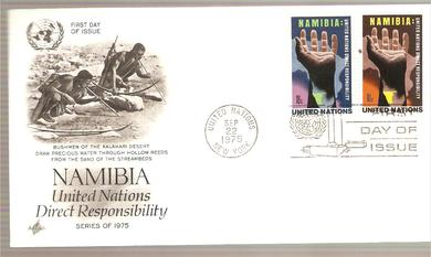 1975, 22. SEPT, NAMIBIA, FDC UNITED NATION,