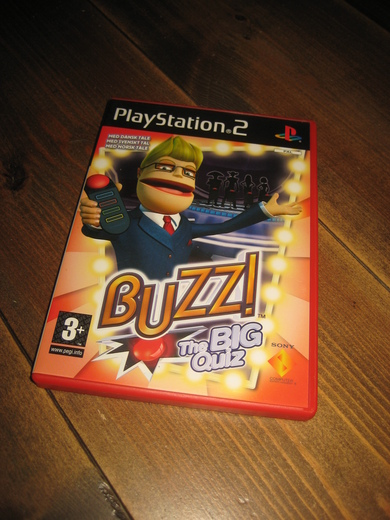 Play Station 2. BUZZ. The big quiz.