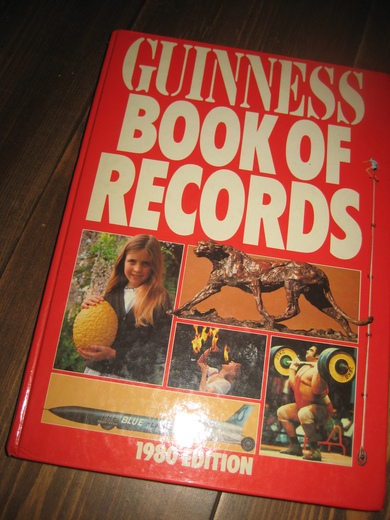 1980, GUNNESS BOOK OF RECORDS.