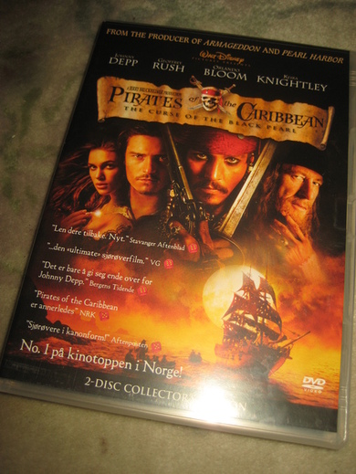 Pirates of the Caribien. 137 min, 2003, 11 år.