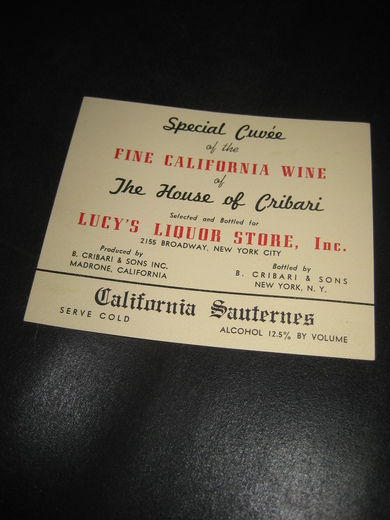 FINE CALIFORNIA WINE