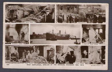 West Hartlepool, Shelled by the germans, des. 1914
