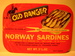 OLD RANGER NORWAY SARDINES.