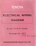 TOYOTA ELECTRICAL WIRING DIAGRAM. 1977