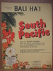 SOUTH PACIFIC. BALI HA'I. 1952.