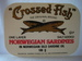 Crossed Fish NORWEGIAN SARDINES. 106 G.